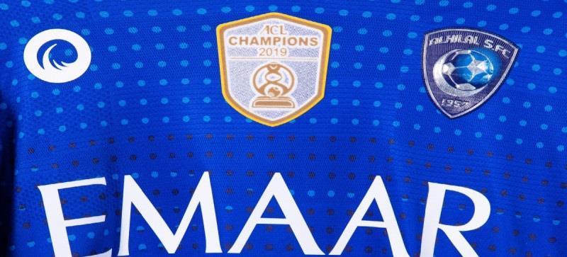 شعار «بطل آسيا» يظهر على قميص الهلال