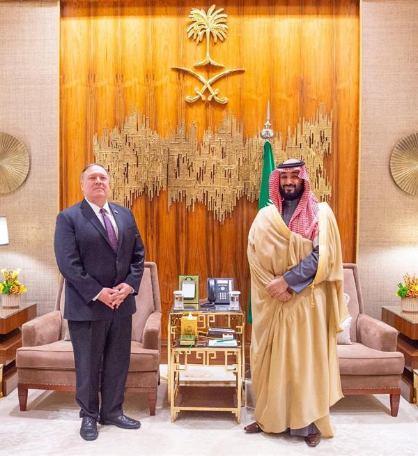ولي العهد يلتقي وزير الخارجية الأمريكي