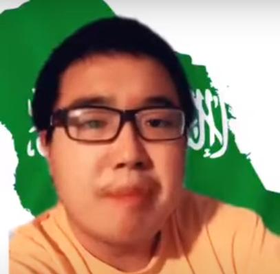 شاب صيني زار المملكة سابقاً يحتفي باليوم الوطني على طريقته الخاصة
