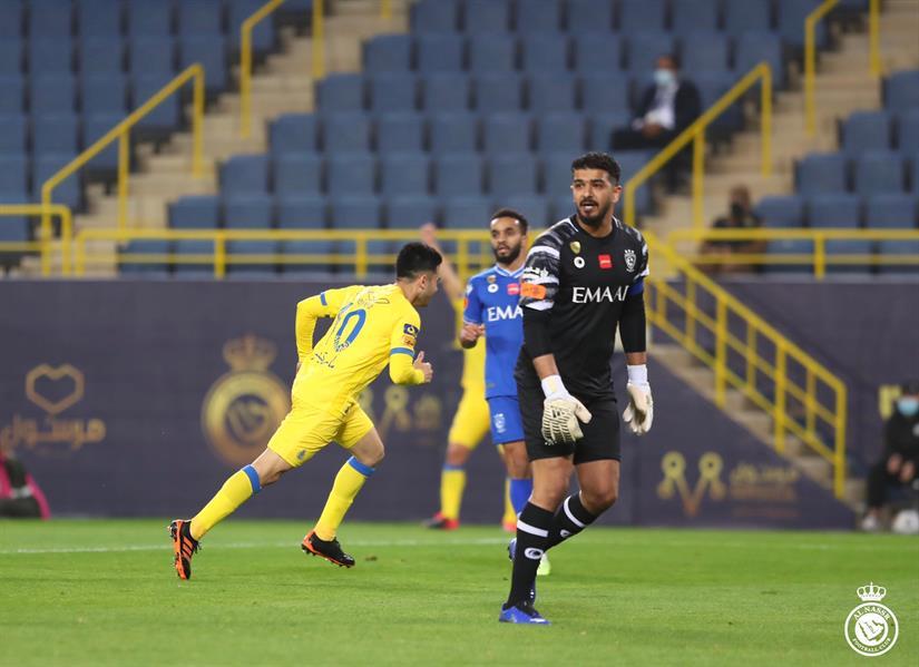 """""""مارتينيز"""" يتقدم لـ """"النصر"""" بهدف في شوط أول أمام """"الهلال"""""""