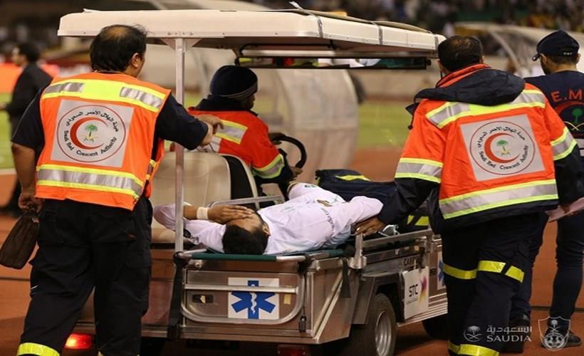 نقل ال فتيل إلى المستشفى بعد الاصابة