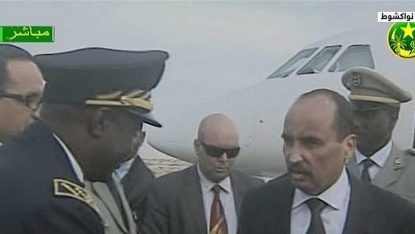 وصول الرئيس الموريتاني الى مططار نواك