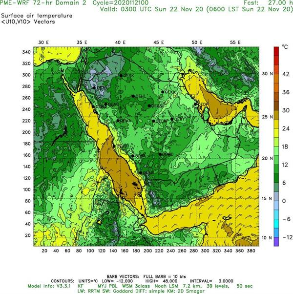 """""""الأرصاد"""": انخفاض في درجات الحرارة على هذه المناطق اعتبار من الغد"""