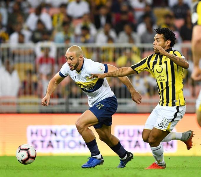 مباراة سابقة بين الاتحاد والنصر في الدوري