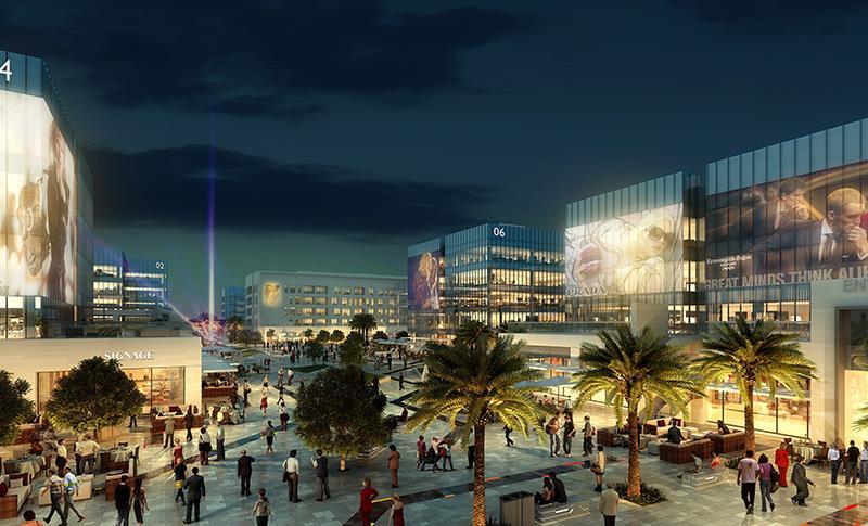 6- سيلكون بارك، واحة دبي للسيليكون   من المقرر أن تنتهي الأعمال فيه بحلول نهاية عام 2018، وستضم المدينة الذكية المتكاملة التي