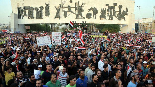 متظاهرون ضد الفساد في بغداد