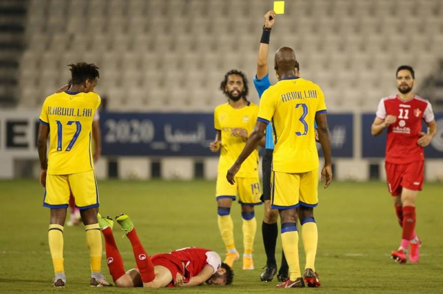 مباراة سابقة بين النصر وبرسبوليس