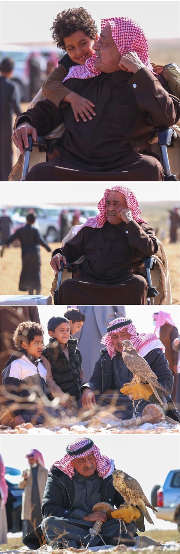 صور للأمير مقرن برفقة أحفاده في المقناص