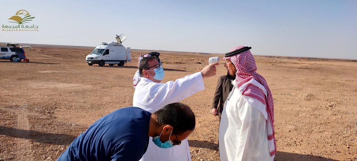 لجان الترائي في مرصد المجمعة تتخذ مواقعها استعداداً لتحري رؤية هلال رمضان