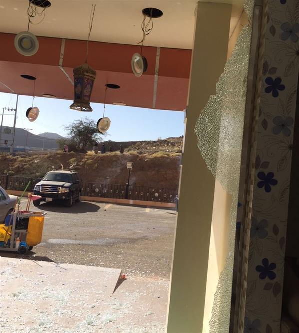 بالصور.. مقذوف حوثي يستهدف مقرا للأمم المتحدة في ظهران الجنوب