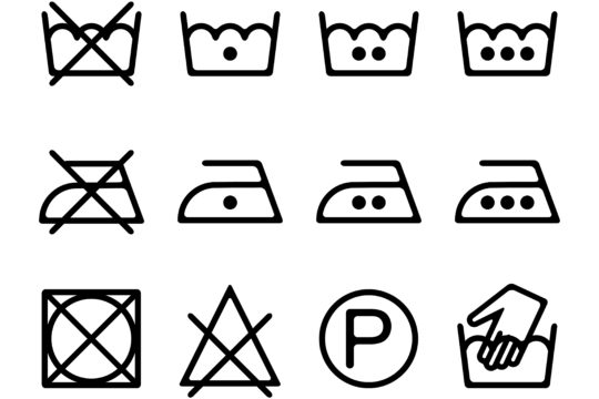 Wash Care Symbols Cleanipedia