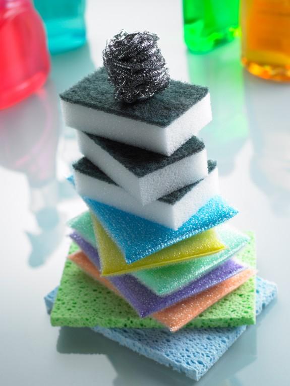 Cómo lavar esponjas, trapos y repasadores