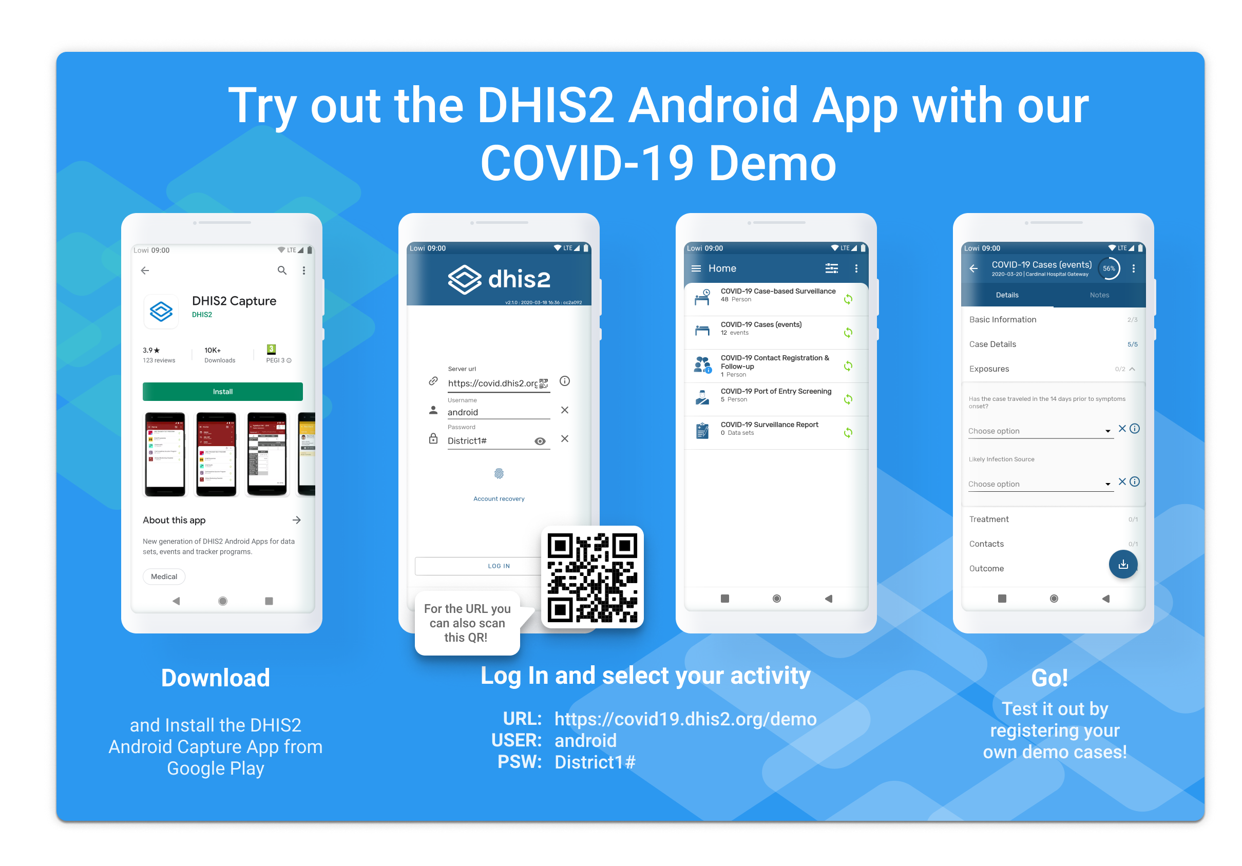 How to test DHIS2 Android Capture demo