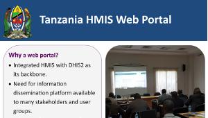 HMIS web portal in Tanzania