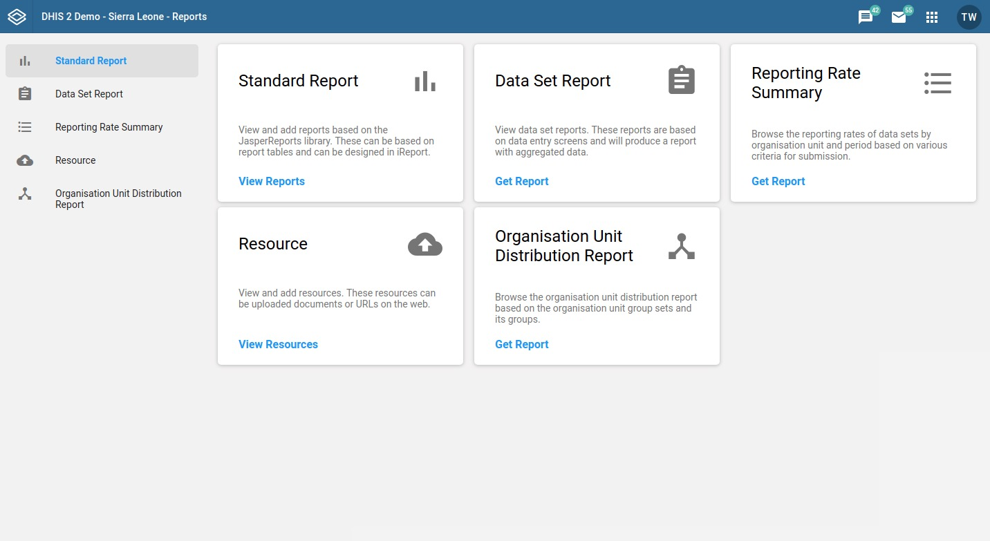 New Reports app