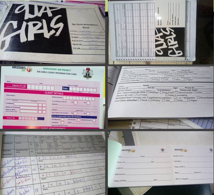 Nigeria A360 project paper forms