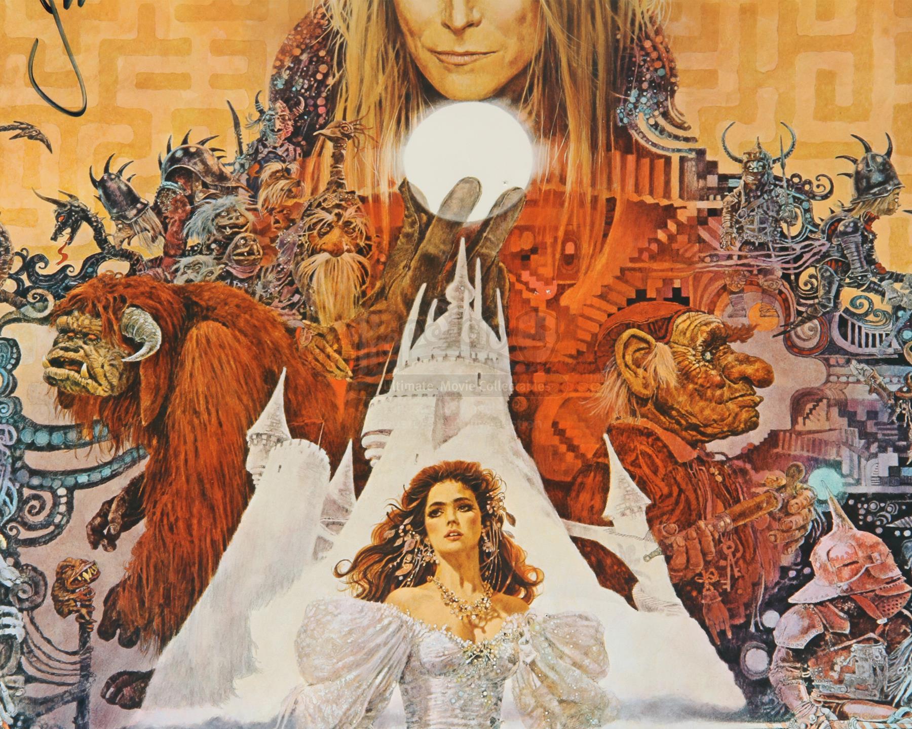 LABYRINTH (1986) - Jim Henson Autographed US One Sheet ... Labyrinth 1986 Poster