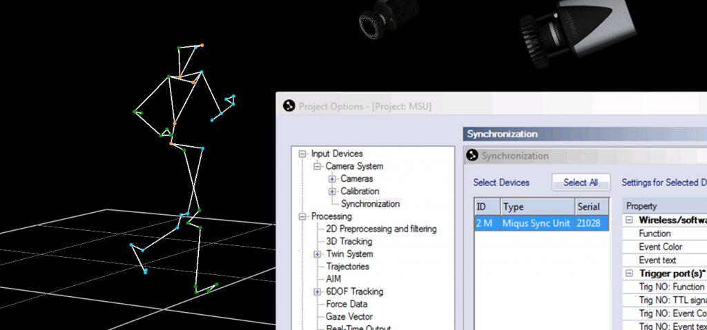 QTM screenshot - Miqus sync unit
