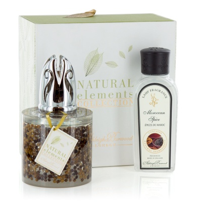 Fragrance lamps giftset natural elements