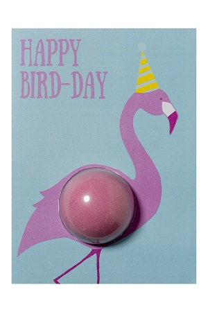 Kaart bomb cosmetics happy bird day blster card bruisbal kaart www sajovi nl