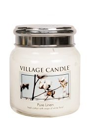 Purelinen medium candle villagecandle www sajovi nl