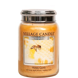 Honeycomb 26oz ml candle villagecandle limetededition www sajovi nl