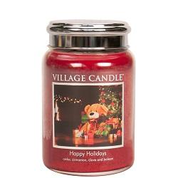 Happyholidays 26oz ml candle villagecandle www sajovi nl
