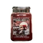 Village candle cherry coffee cordial large jar www sajovi nl