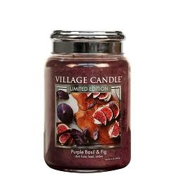 Village candle purple basil fig fijg large candle geurkaarsen interieurgeuren kaars herfst kerst winter www sajovi nl