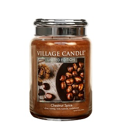Village candle chestnut spice kastanje large candle geurkaarsen interieurgeuren kaars kerst winter www sajovi nl