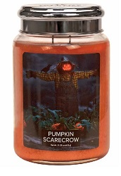 Village candle pumpkin scarecrow pompoen vogelverschrikker large candle geurkaarsen interieurgeuren kaars kerst winter sneeuw www sajovi nl
