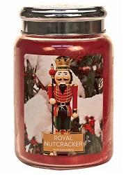Village candle royal nutcracker notenkraker large candle geurkaarsen interieurgeuren kaars herfst kerst winter sneeuw www sajovi nl
