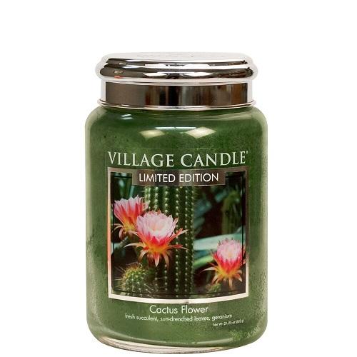 Village candle nederland cactus flower large jar www sajovi nl