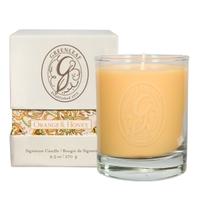 Orange honey boxed jar candle