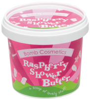 Raspberry shower butter bomb cosmetics www sajovi nl