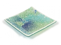 Ab186 mosaic plate large shimmering sea