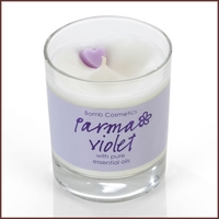 B403 parma violet glass candle