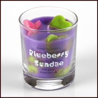 B614 blueberry sundae glass candle