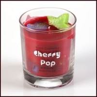 B612 cherry pop glass candle