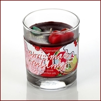 B618 christmas pudding glass candle