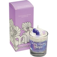 Shiny happy purple piped candle bomb cosmetics www sajovi nl