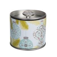 Greenleaf holiday signature candle tin silver spruce www sajovi nl