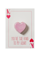 Bomb cosmetics you are the king to my heart blaster card bruisbal kaart www sajovi nl