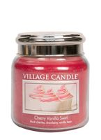 Village candle cherry vanilla swirl medium jar www sajovi nl