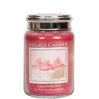 Village candle cherry vanilla swirl large jar www sajovi nl