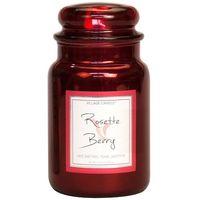 Village candle rosette berry metallic large jar www sajovi nl