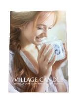 Village candle leaflet folder geurkaars www sajovi nl