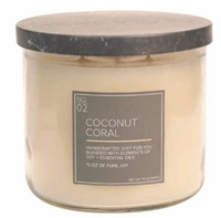Coconut coral village candle www sajovi nl