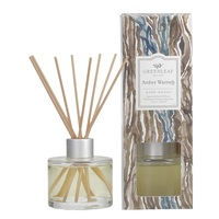 Greenleafgifts amberwarmth warmwoods signature reed diffuser geurstokjes home fragrance oil olie  interieurgeur www sajovi nl