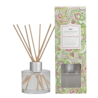 Greenleafgifts cucumber lily fruity floral fruitig bloemig signature reed diffuser geurstokjes home fragrance oil olie  interieurgeur www sajovi nl